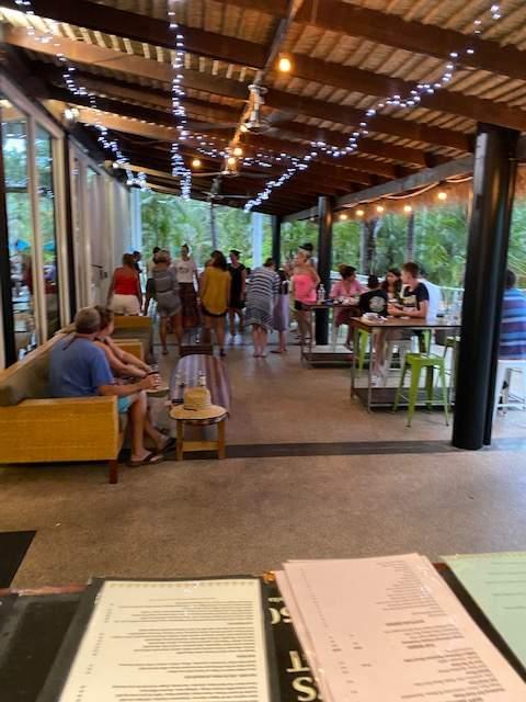 Drift & Wood Nighttime Outside Tables